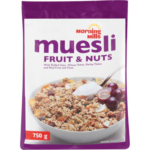 Morning Mills Fruit & Nut Muesli Cereal 750g