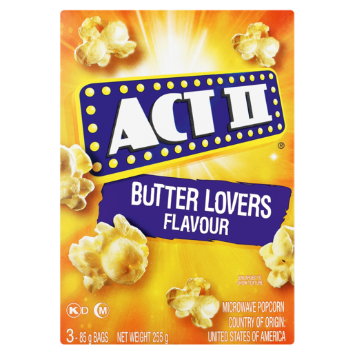 Act Ii Butter Lovers Flavoured Microwave Popcorn 252g Popcorn Chips Snacks Popcorn Food Cupboard Food Checkers Za
