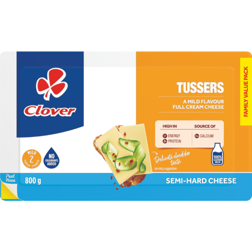 Clover Tussers Family Value Pack Semi-Hard Full Cream Cheese 800g