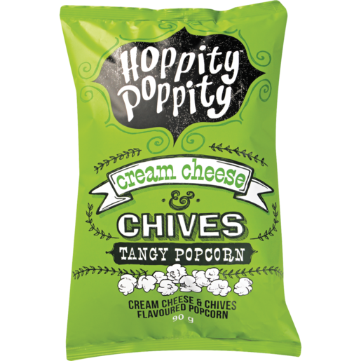 Hoppity Poppity Cream Cheese & Chives Tangy Popcorn 90g