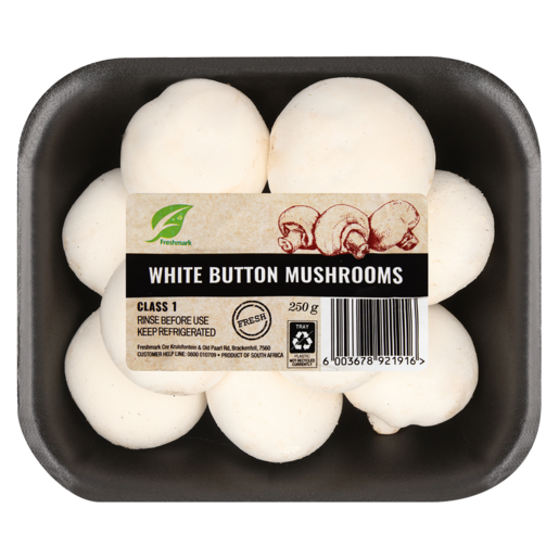 White Button Mushrooms 250g