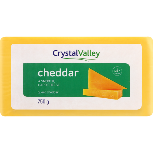 Crystal Valley Cheddar Cheese Pack 750g