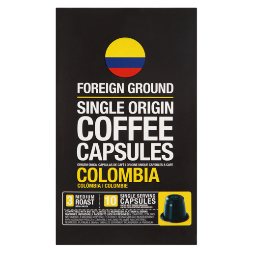 Foreign Ground Colombia Single Origin Coffee Capsules 10 Pack
