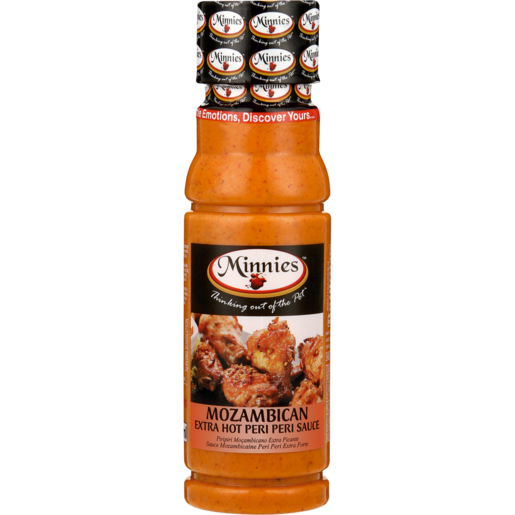 Minnies Mozambican Extra Hot Peri-Peri Sauce 250ml