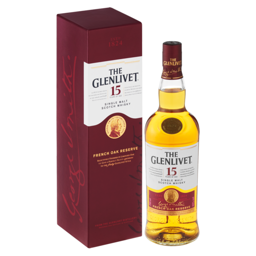 The Glenlivet 15 Year Single Malt Whisky Bottle 750ml