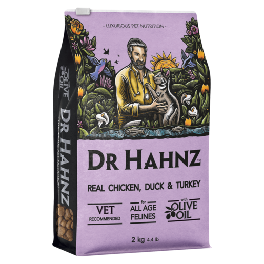 Dr Hahnz Adult Real Chicken, Duck & Turkey Flavoured Cat Food 2kg