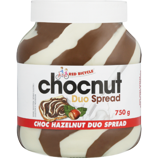 Red Bicycle Hazelnut Duo Chocolate Spread 750g