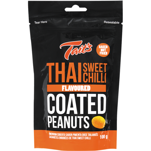 Tait's Thai Sweet Chilli Peanuts 100g