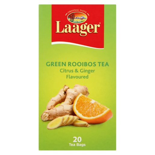 Laager Citrus & Ginger Flavoured Green Rooibos Tea 20 Pack