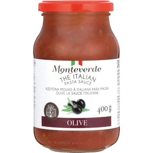 Monteverde Olives With Pasta Sauce 400g