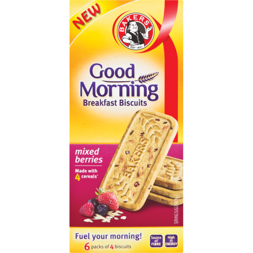 Bakers Good Morning Mixed Berries Breakfast Biscuits 300g