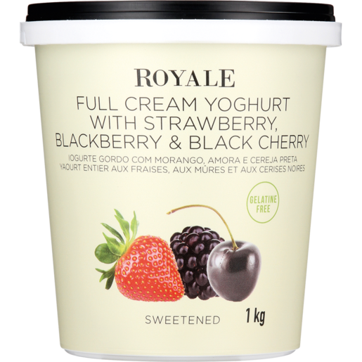 Royale Strawberry, Blackberry & Black Cherry Full Cream Yoghurt 1kg