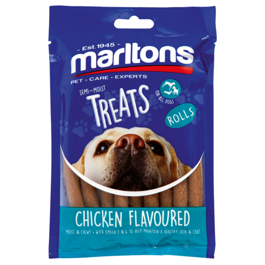 Marltons Chicken Flavoured Dog Treat Rolls 120g