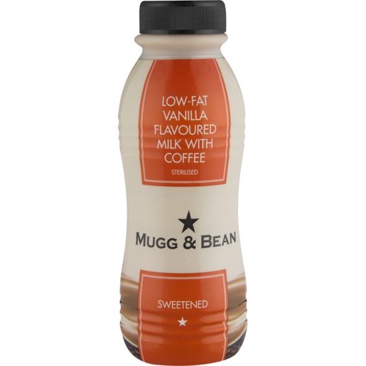 Mugg & Bean Low Fat Vanilla Flavoured Milk With Coffee 300ml