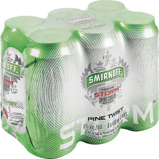 Smirnoff Storm Pine Twist Cooler Cans 6 x 440ml