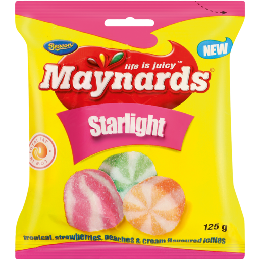 Maynards Dessert Flavoured Starlight Jellies 125g