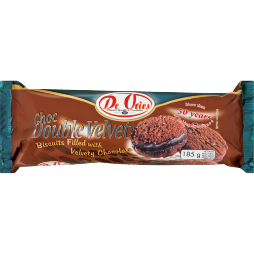 De Vries Double Velvet Chocolate Biscuits 185g