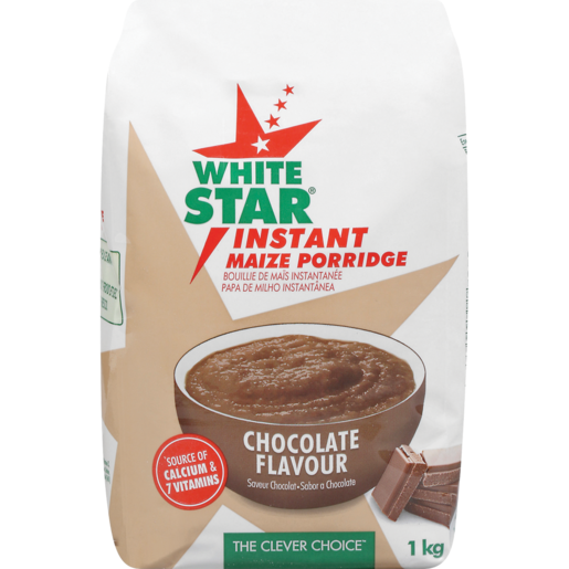 White Star Chocolate Flavoured Instant Maize Porridge 1kg