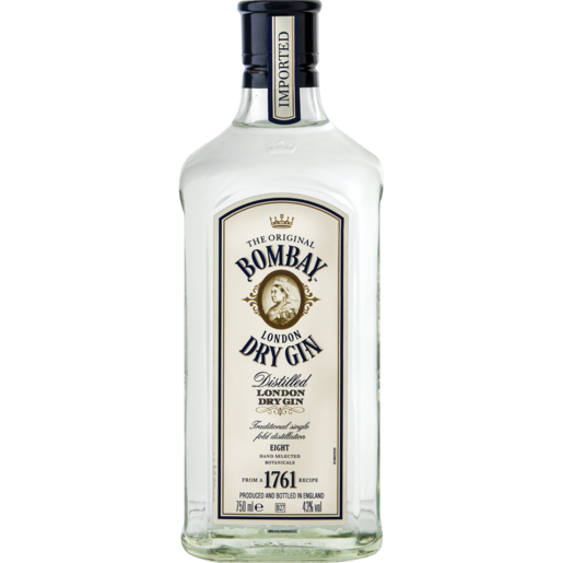 Bombay London Dry Gin Bottle 750ml