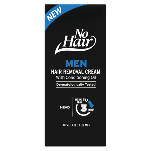No Hair Men Hair Removal Cream With Conditioning Oil 50ml