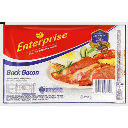 Enterprise Back Bacon 200g