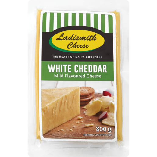 Ladismith White Cheddar Cheese Pack 800g