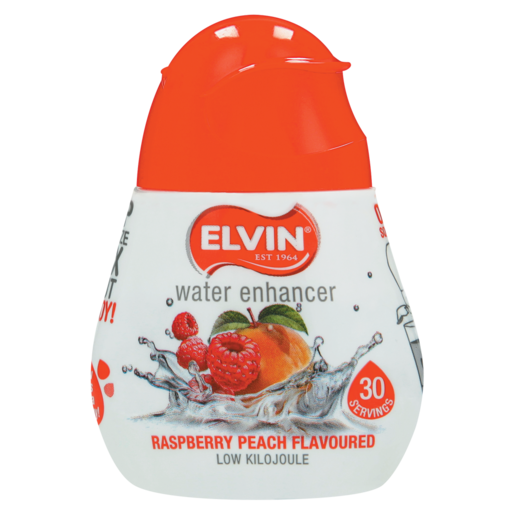 Elvin Raspberry Peach Flavoured Water Enhancer 48ml