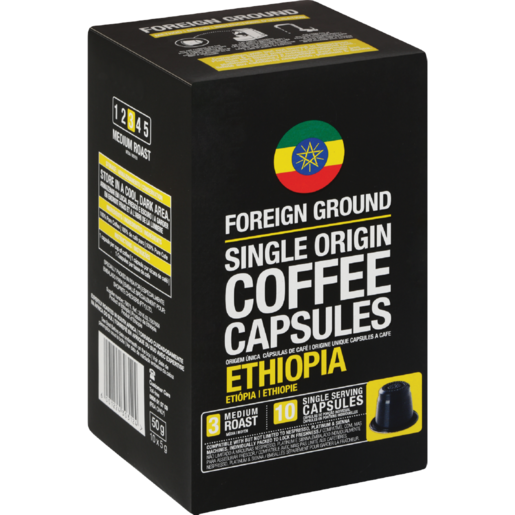 Foreign Ground Ethiopian Coffee Capsules 10 Pack