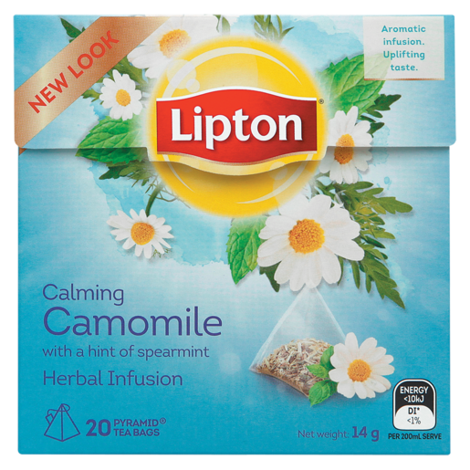 Lipton Herbal Infusion Chamomile With A Hint Of Spearmint Pyramid Tea Bags 20 Pack