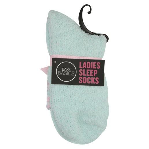 Bare Basics Assorted Ladies Sleep Socks With Cuff