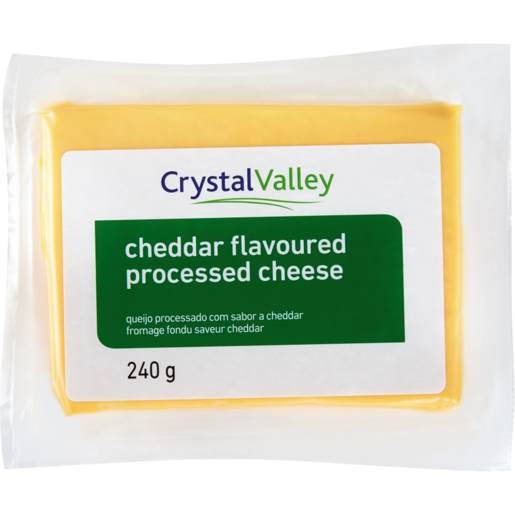 Crystal Valley Cheddar Flavoured Processed Cheese 240g
