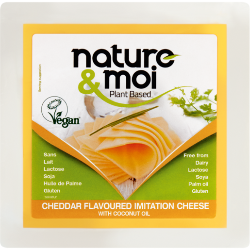 Nature & Moi Plant Based Vegan Cheddar Flavoured Imitation Cheese 200g