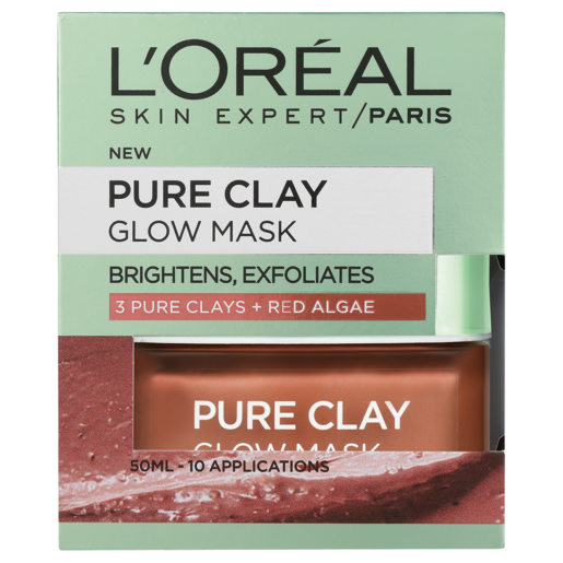 L'Oreal Pure Clay Glow Mask 50ml