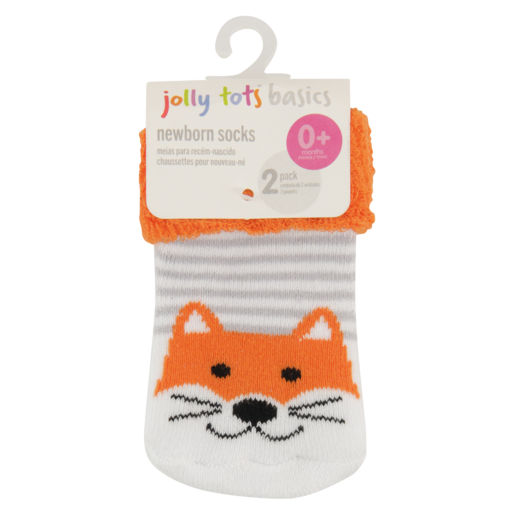 Jolly Tots 0+ Months Newborn Socks 2 Pack