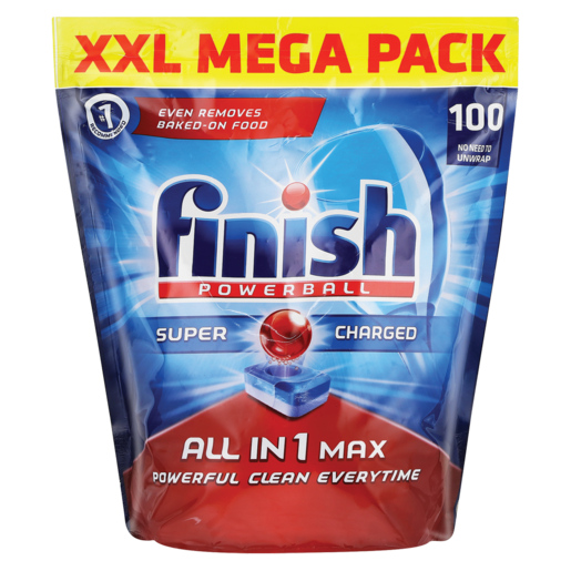 Finish All In 1 Max Super Charged Dishwasher Tablets 100 Pack Dishwashing Cleaning Household Checkers Za