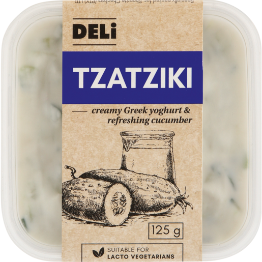 Deli Fresh Tzatziki Dip 125g Hummus Dips Fresh Salad Herbs Dip Fresh Food Food Checkers Za