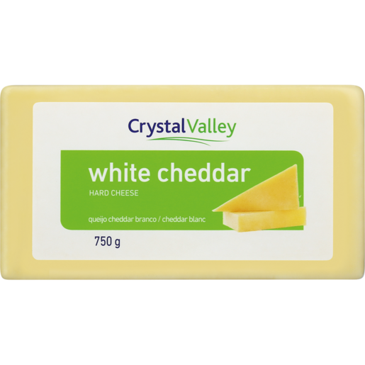 Crystal Valley White Cheddar Cheese 750g
