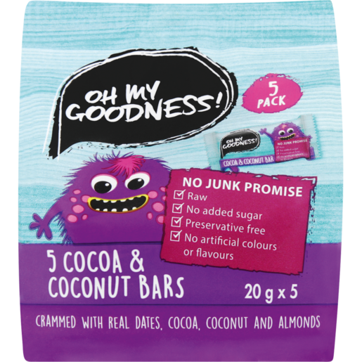 Oh My Goodness! Cocoa & Coconut Snack Bars 5 Pack