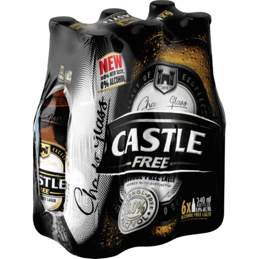 Castle Free Alcohol-Free Beer Bottles 6 x 340ml