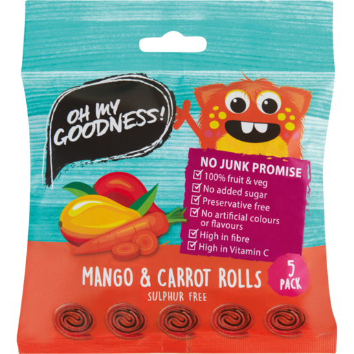Oh My Goodness! Mango & Carrot Rolls 5 Pack