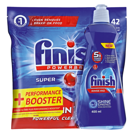 Finish All In 1 Max Dishwasher Tablets 42 Pack Rinse Aid 400ml Dishwashing Cleaning Household Checkers Za