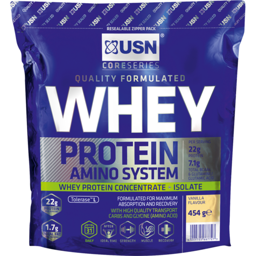 USN Vanilla Amino Concentrate Whey Protein 454g