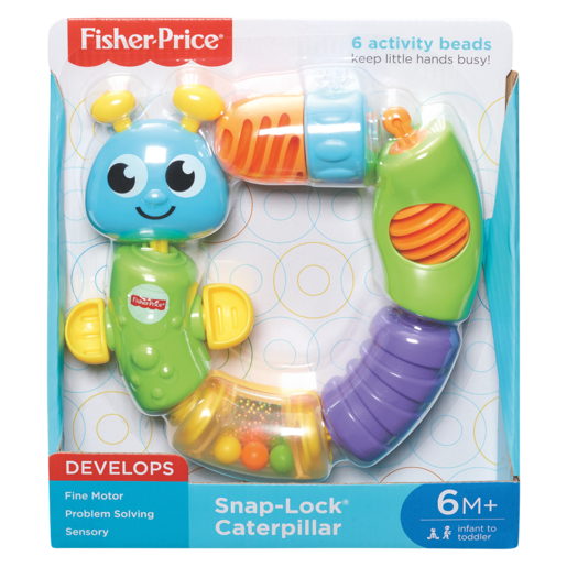 Fisher Price Snap-Lock Caterpillar Toy 6-36 Months