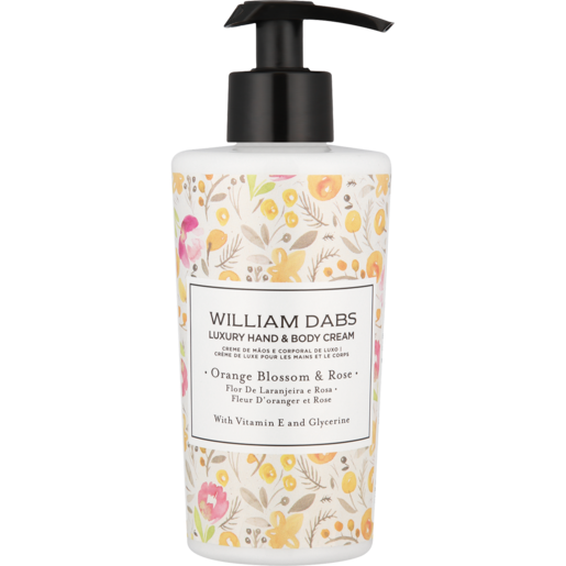 William Dabs Orange Blossom & Rose Luxury Hand & Body Cream 300ml