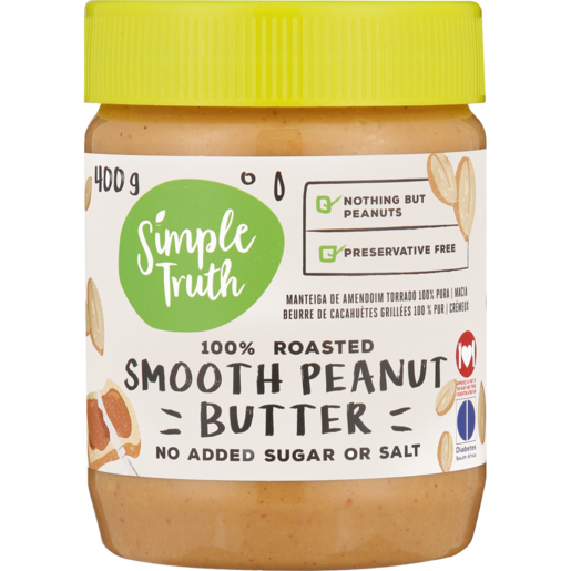 Simple Truth 100% Roasted Smooth Peanut Butter 400g