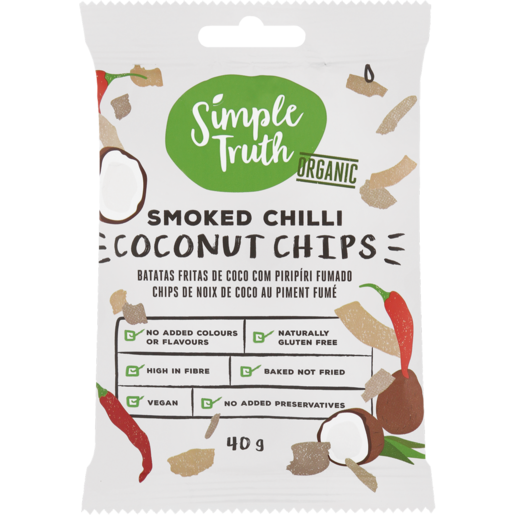 Simple Truth Smoked Chilli Coconut Chips 40g