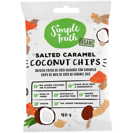 Simple Truth Salted Caramel Coconut Chips 40g