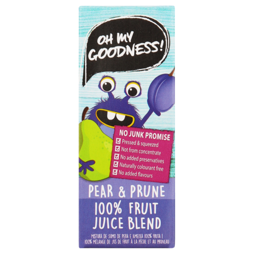 Oh My Goodness! 100% Pear & Prune Fruit Juice Blend 200ml