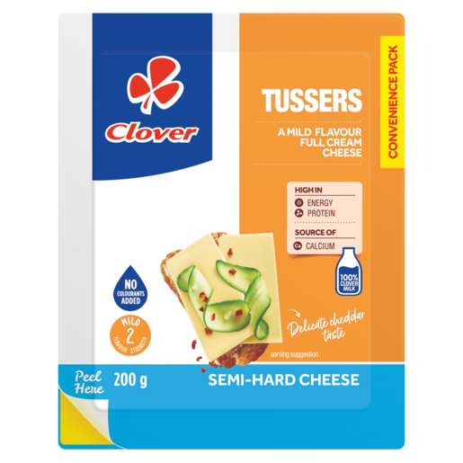 Clover Tussers Semi-Hard Cheese Pack 200g