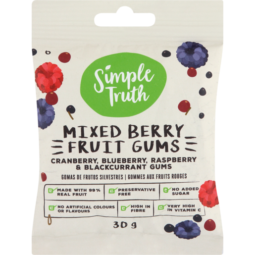 Simple Truth Mixed Berry Fruit Gums 30g